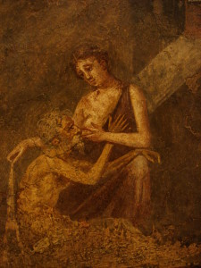 Ancient Roman fresco depicting Micon and Pero from Pompeii. This image is by Stefano Bolognini and is distributed under a CC-BY-SA 2.0 license.