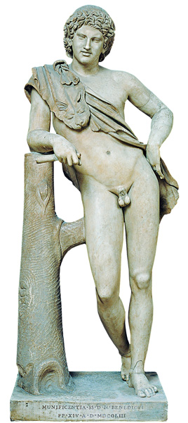 Leaning Satyr by Praxiteles (copy)