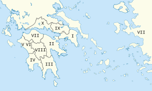 Pausanias Description of Greece map.